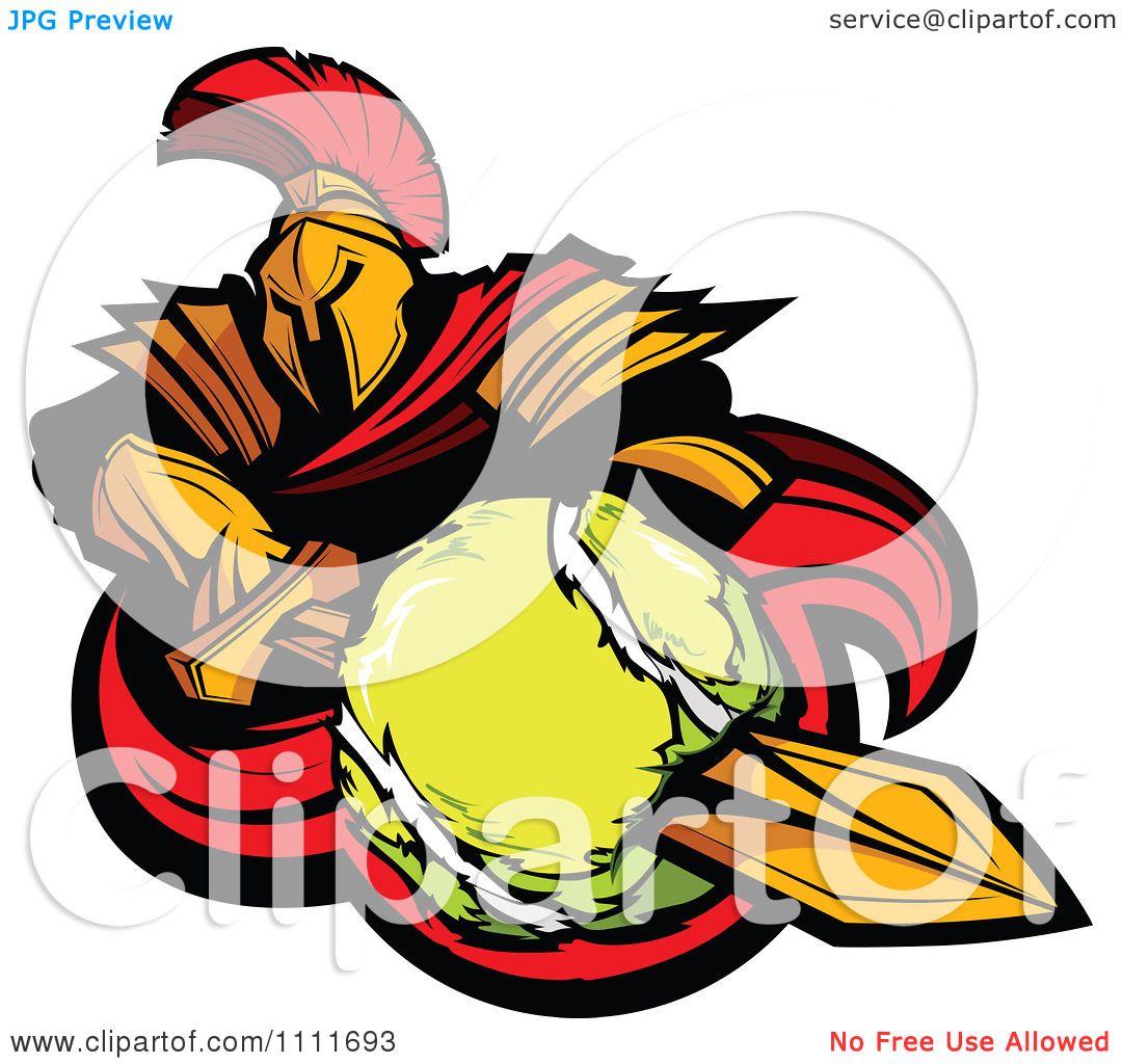 Tennis ball mascot stock photos tennis ball mascot stock photography - Clipart Spartan Warrior Mascot Stabbing A Tennis Ball With His Golden Sword Royalty Free Vector Illustration By Chromaco