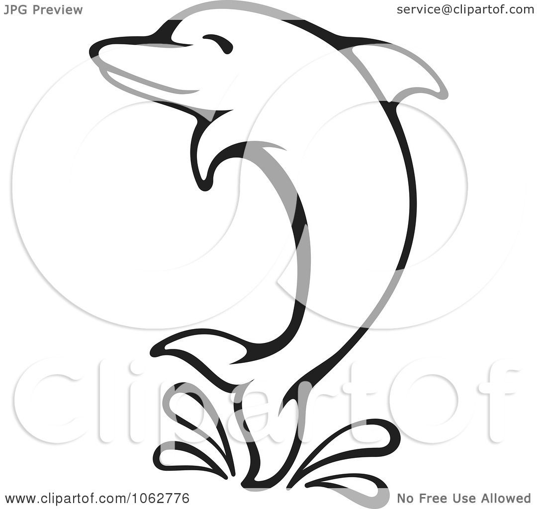 Dolphin outline tattoo - photo#44