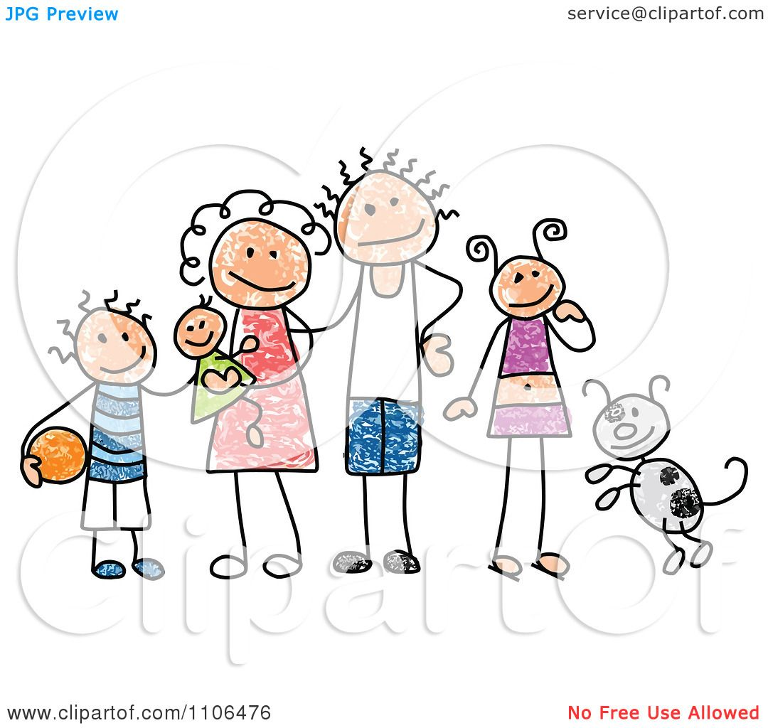 Clipart Children Drawing Clipart Stick Drawing of a