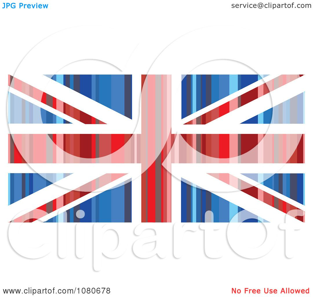 Clipart Striped Union Jack Flag - Royalty Free Vector ...