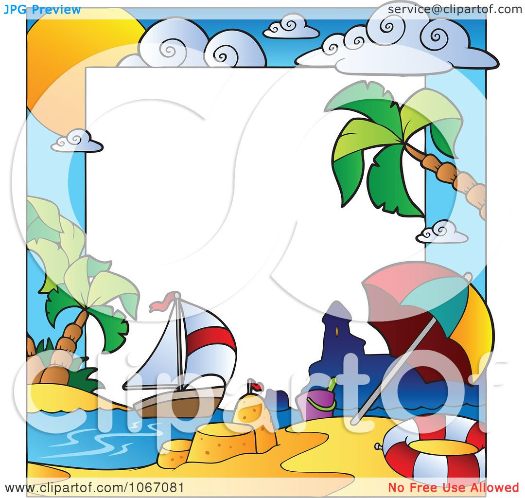 Beach Background Clipart Clipart Summer Time Beach