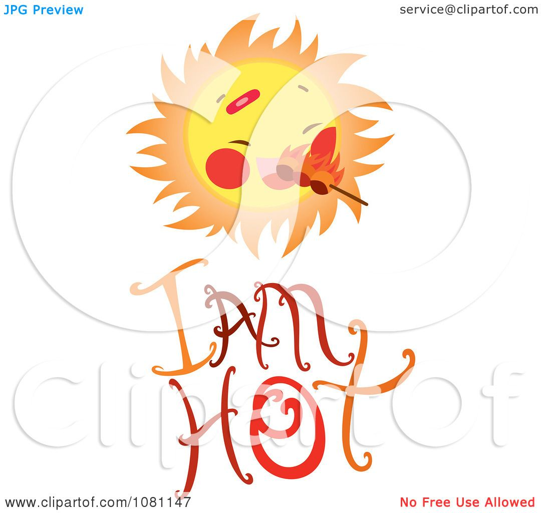 clipart sun with flames over i am hot text royalty free hot weather clipart black and white hot weather clip art free