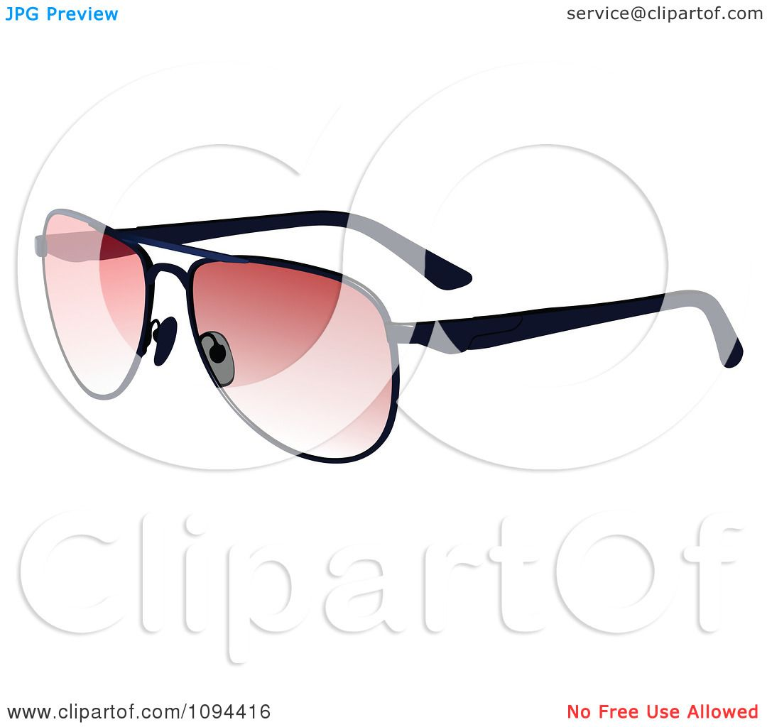 Clipart Sunglasses With Pink Tint On The Lenses