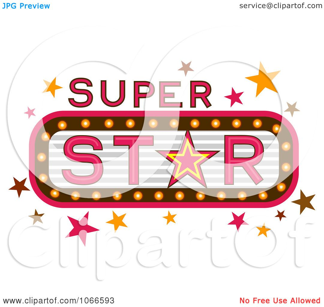 Clipart Super Star Marquee Sign - Royalty Free Vector Illustration ...