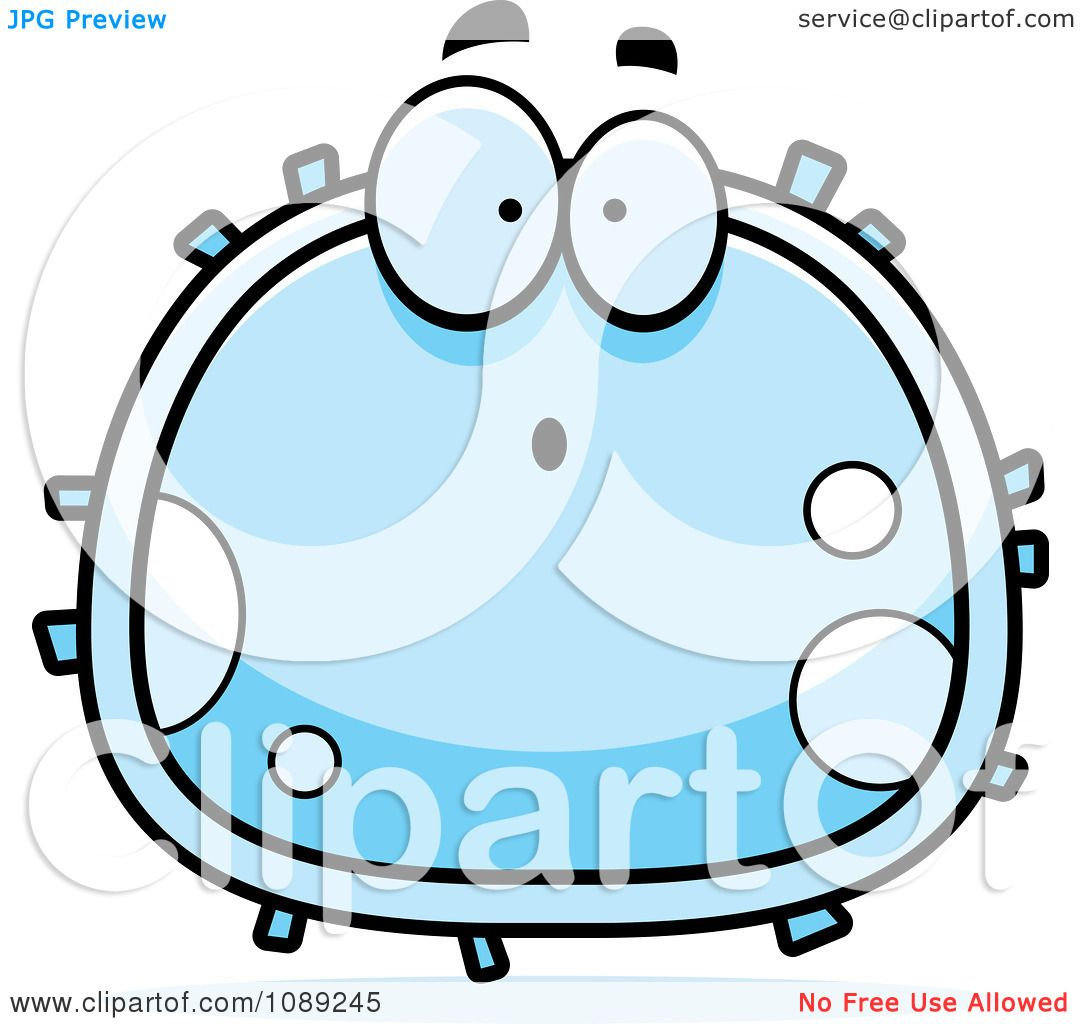 clipart surprised white blood cell royalty free vector rh clipartof com cell clipart black and white cell biology clipart