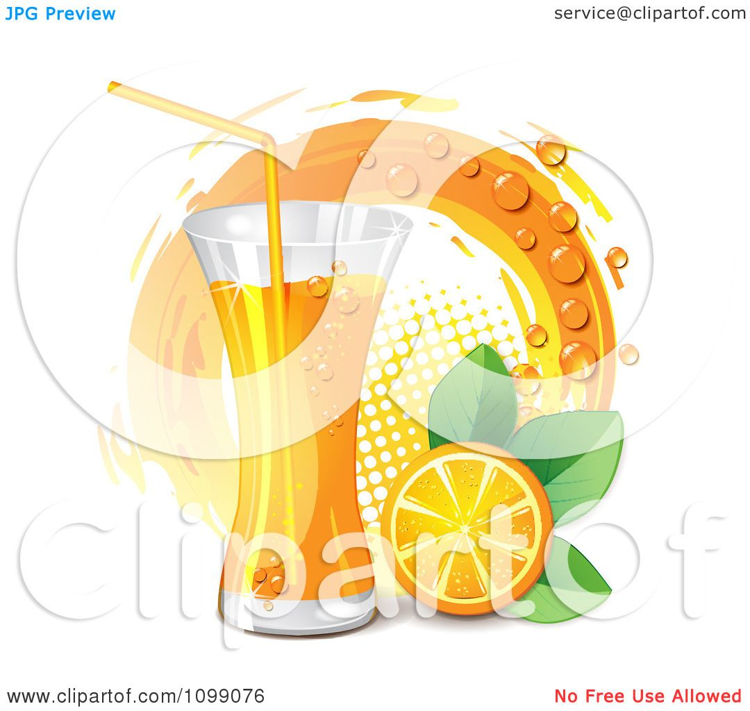 Orange Juice Glass Clipart Clipart Tall Glass of Orange