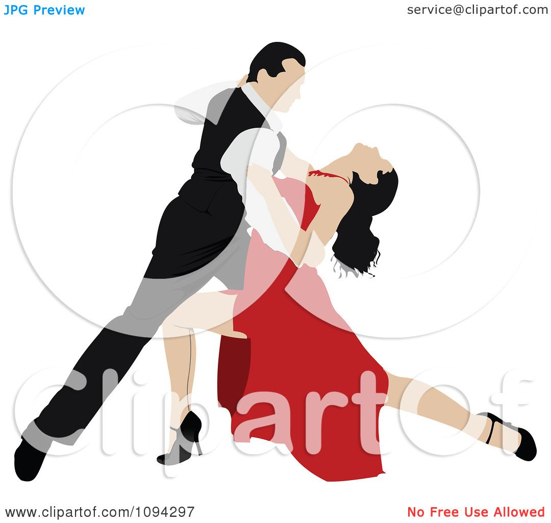 Clipart Tango Dancing Couple 2 - Royalty Free Vector Illustration ...