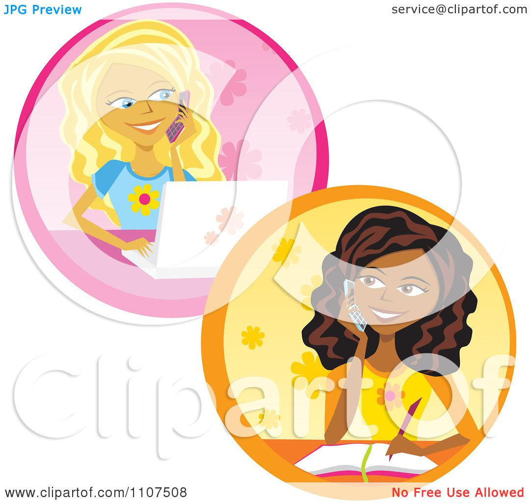 Group Girls Clipart Clipart Teenage Girls Talking