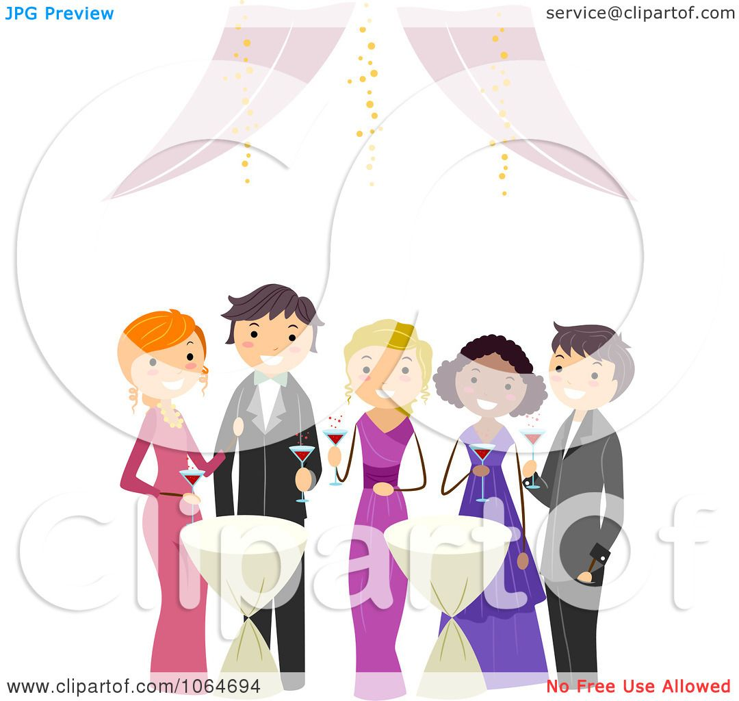 Clipart Teens At Prom - Royalty Free Vector Illustration by BNP ...
