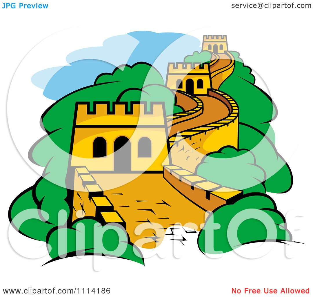 Clipart The Great Wall Of China - Royalty Free Vector Illustration ...