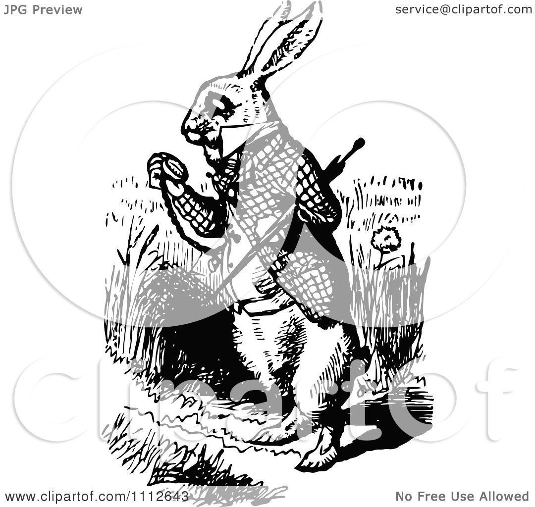 Alice In Wonderland Rabbit Stencil