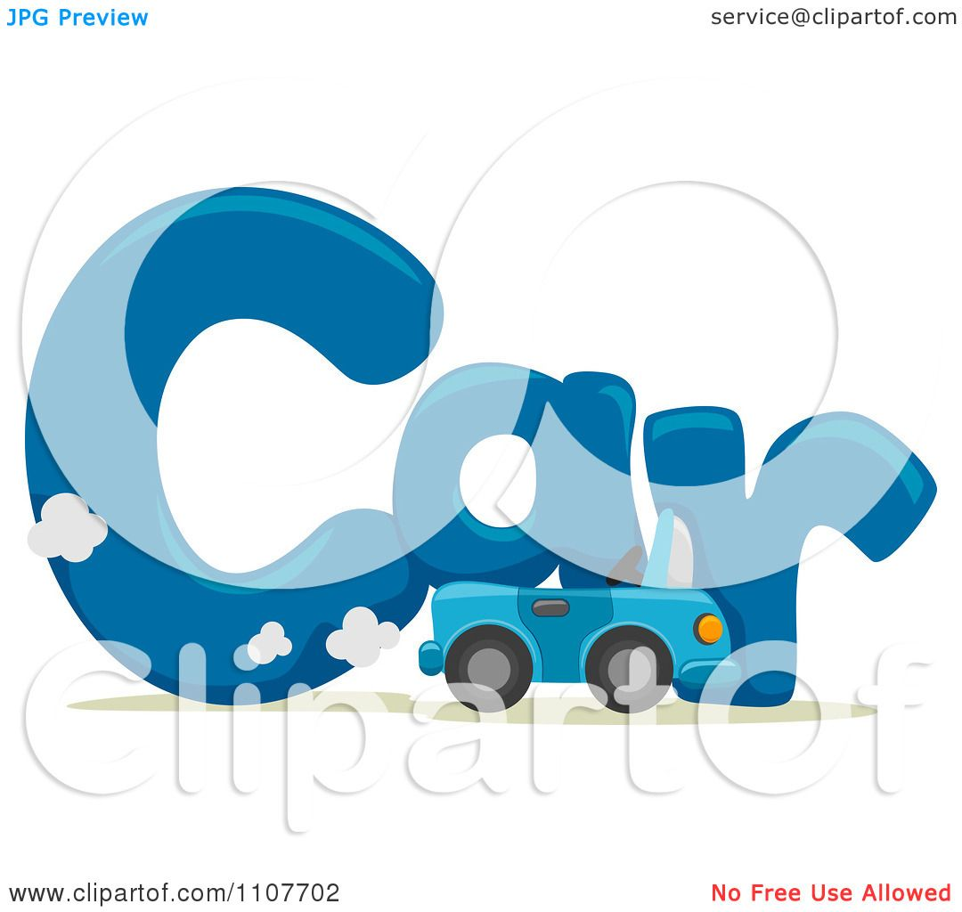 Clipart The Word Car For Letter C Royalty Free Vector