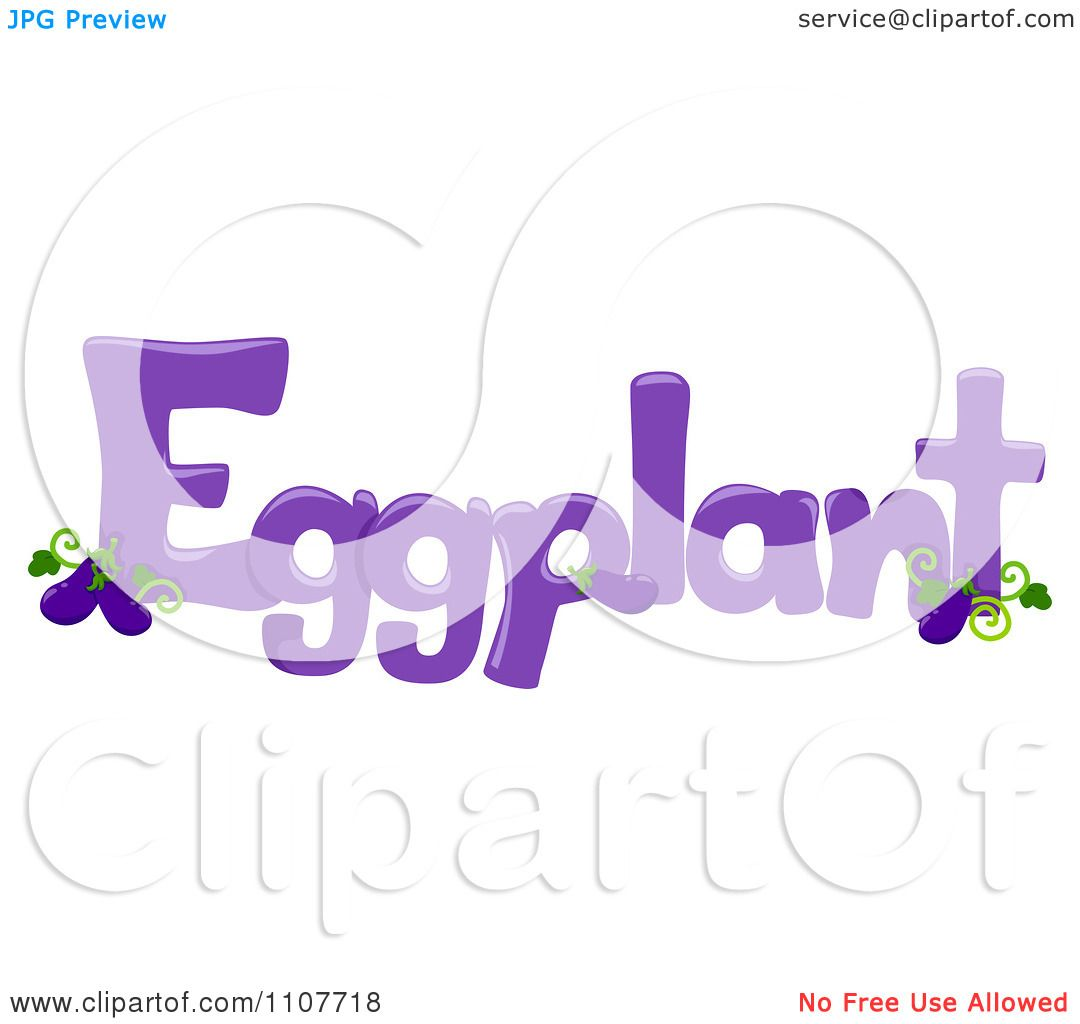 Clipart the word eggplant for letter e royalty free for Clipart words
