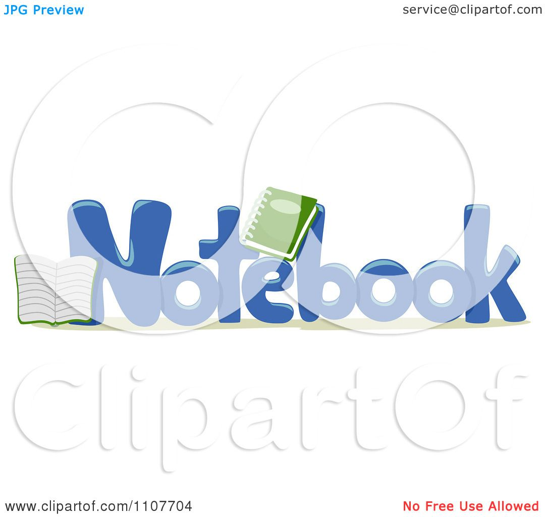 clipart the word notebook for letter n royalty free vector