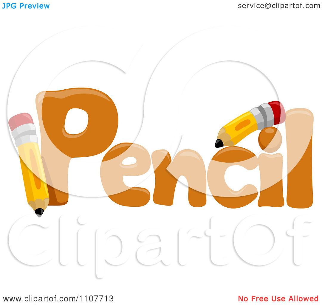 Clipart the word pencil for letter p royalty free vector for Clipart words