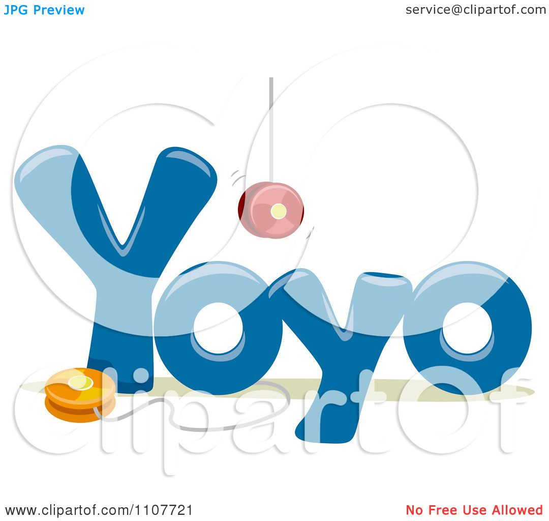 Clipart The Word Yoyo For Letter Y - Royalty Free Vector ... for Clipart Yoyo  83fiz