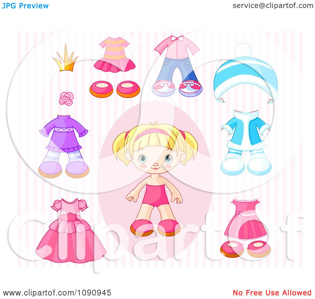 Clipart Toddler Girl Doll With
