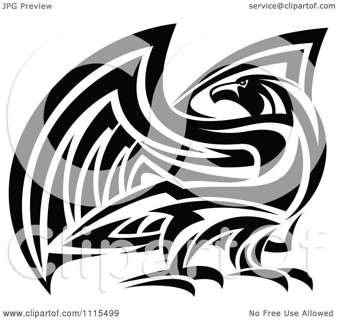 Clipart Tribal Black And White