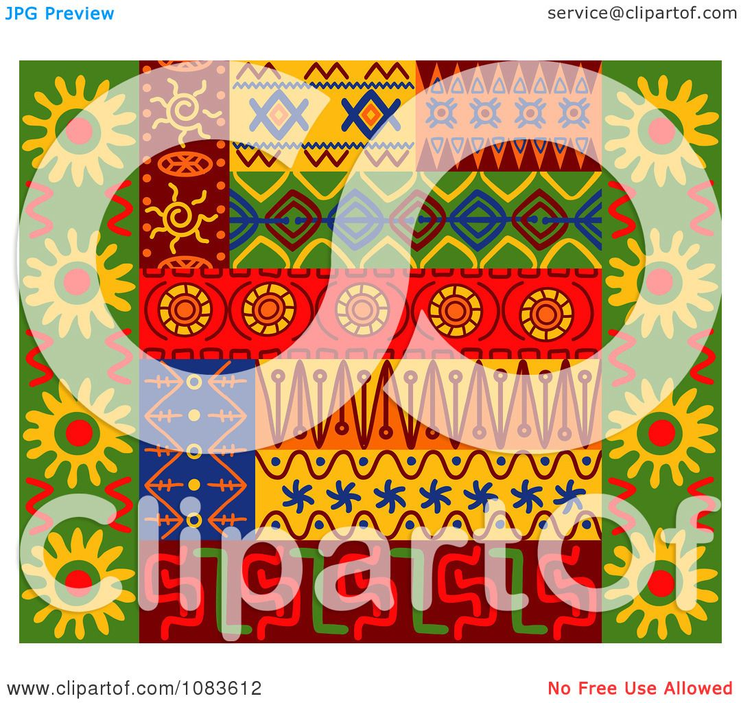 Clipart Tribal Design Element Borders 2 - Royalty Free Vector ...