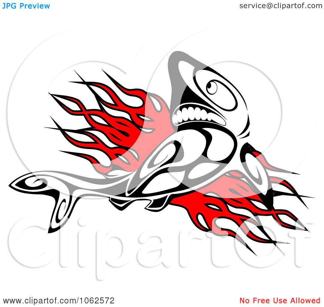 f54245e53b1c9 Clipart Tribal Shark And Flames - Royalty Free Vector Illustration by  Vector Tradition SM