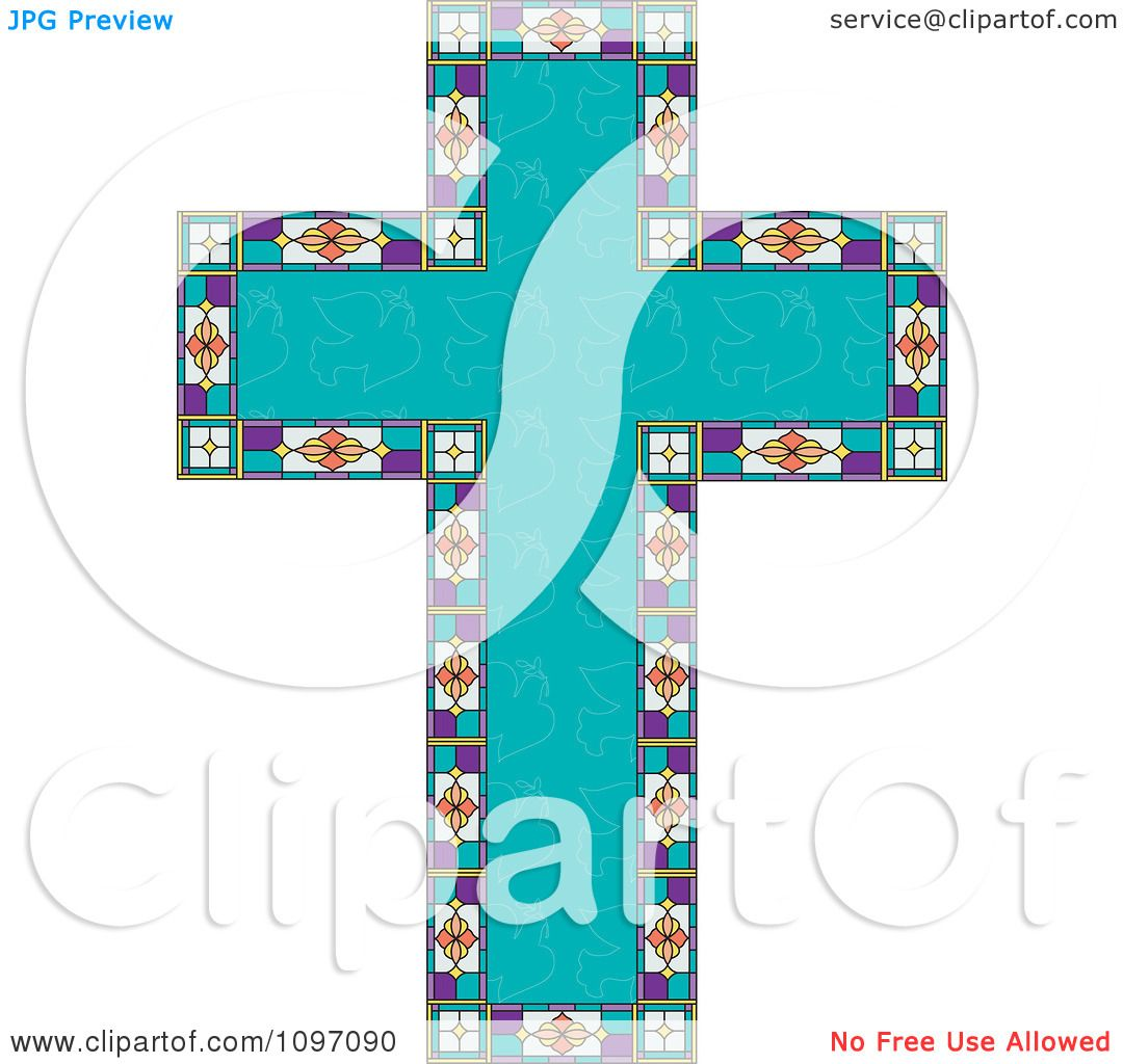 Clipart Turquoise Peace Dove Patterned Easter Cross