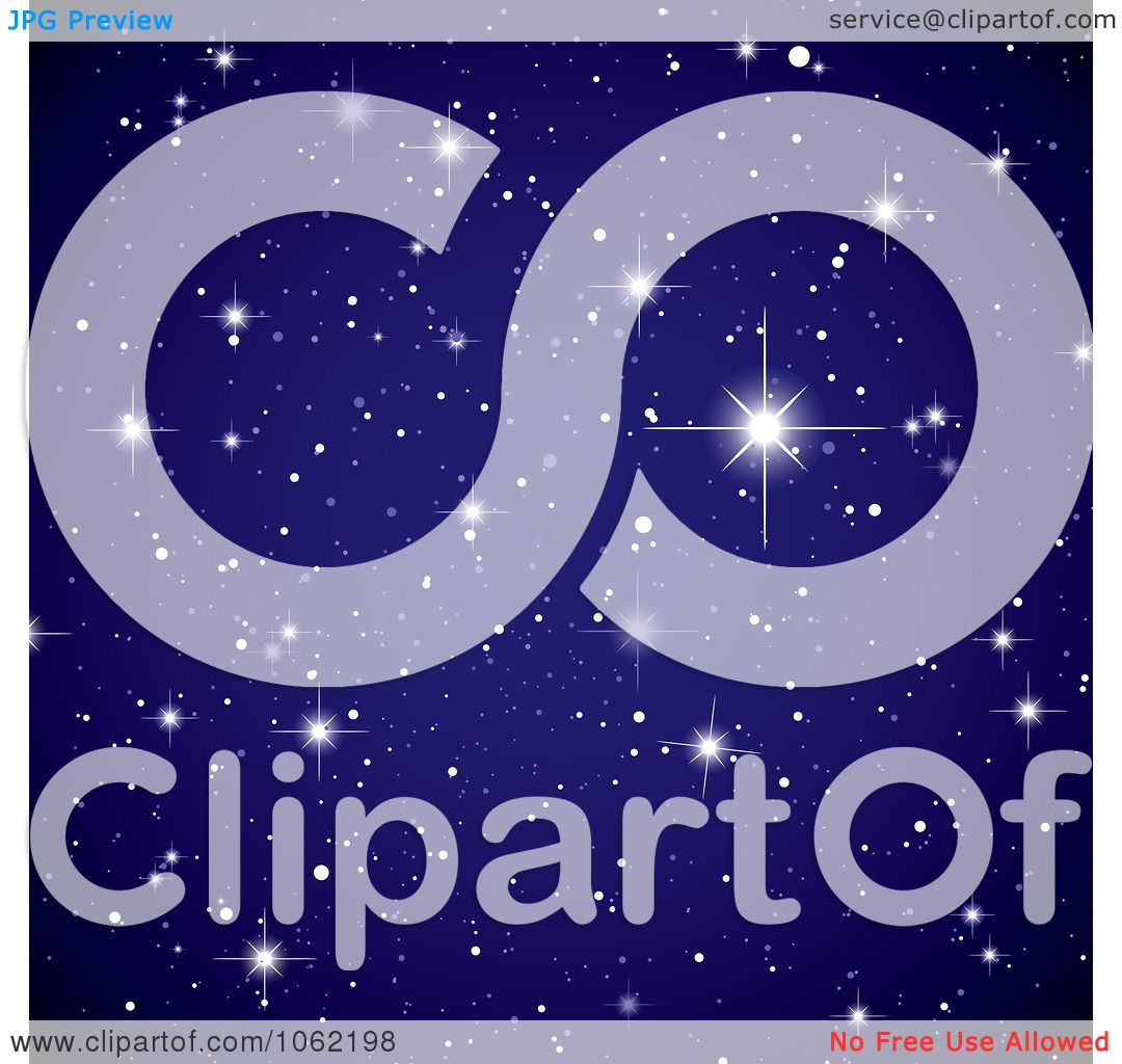 Clipart Twinkling Starry Night