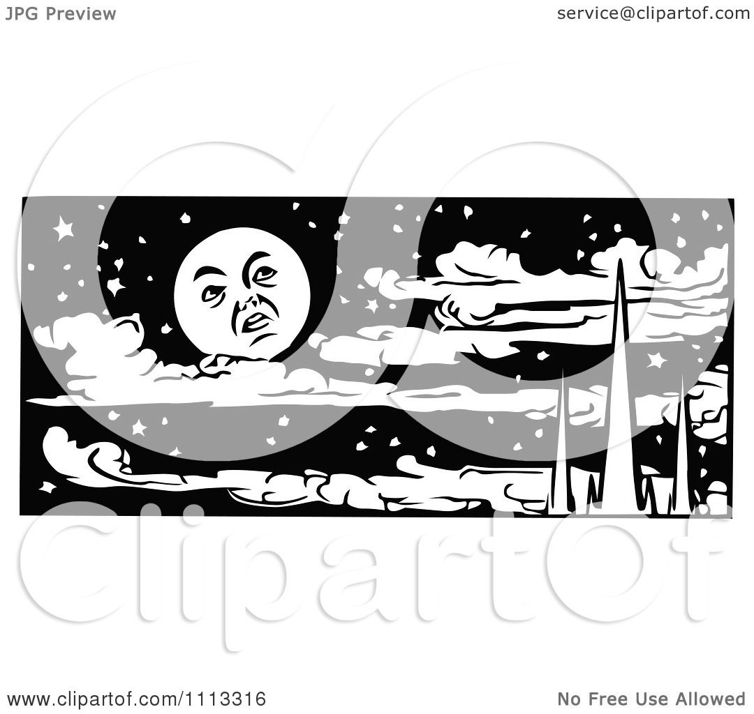 Displaying 17> Images For - Night Sky Clip Art Black And White...