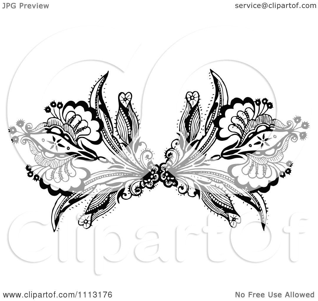 Clipart-Vintage-Black-And-White-Ornamental-Double-Fleur-Border-Design ...