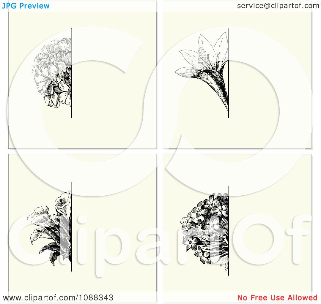 Clipart Vintage Black Flower And Beige Invitation Backgrounds – Free Invitation Backgrounds