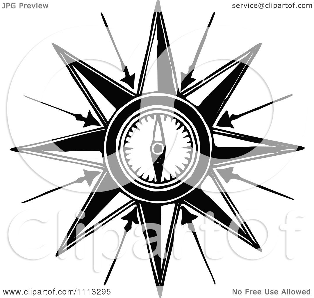 Clipart vintage compass royalty free vector illustration - Clipart illustration ...