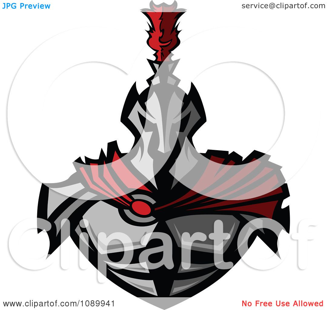 Clipart Warrior In Metal Armor And A Red Cape Royalty