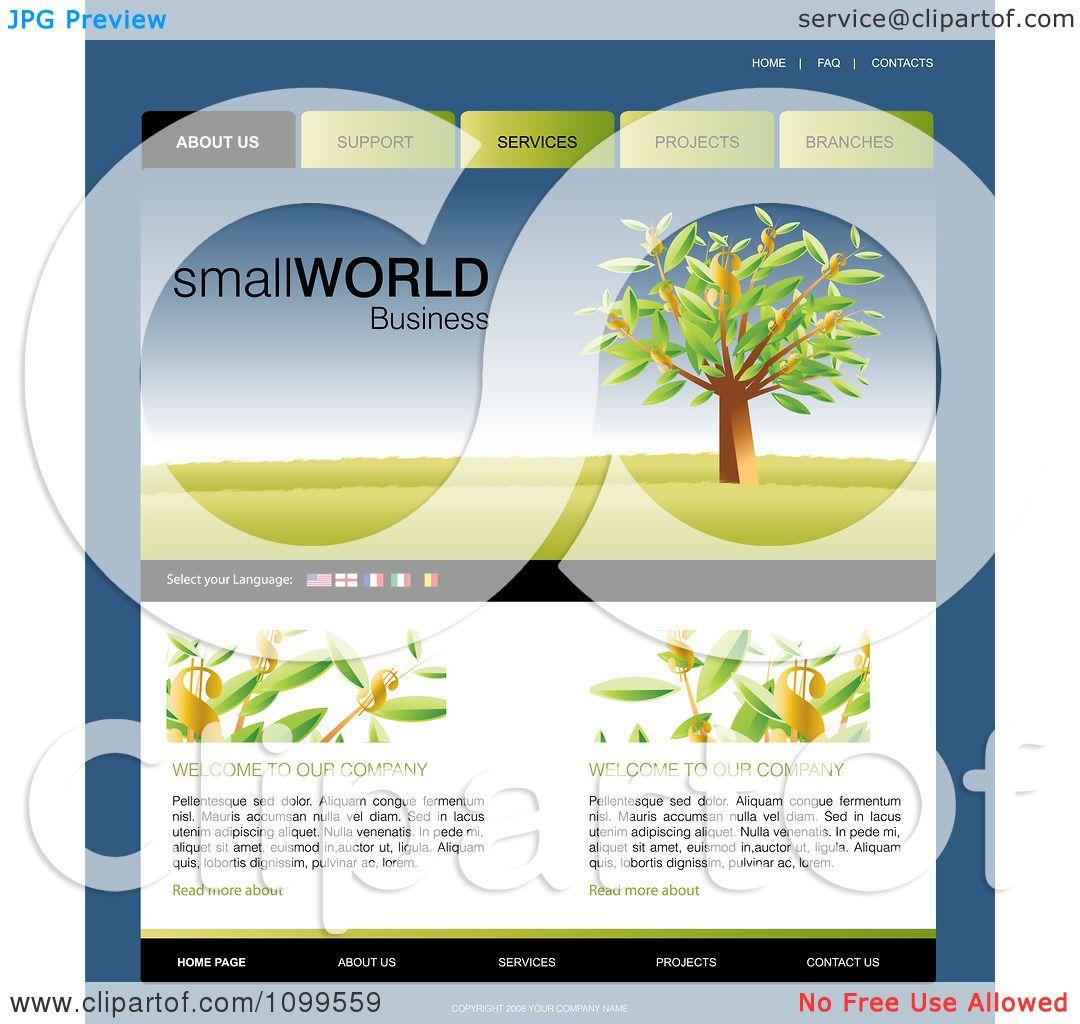 Clip Art Web Page Templates