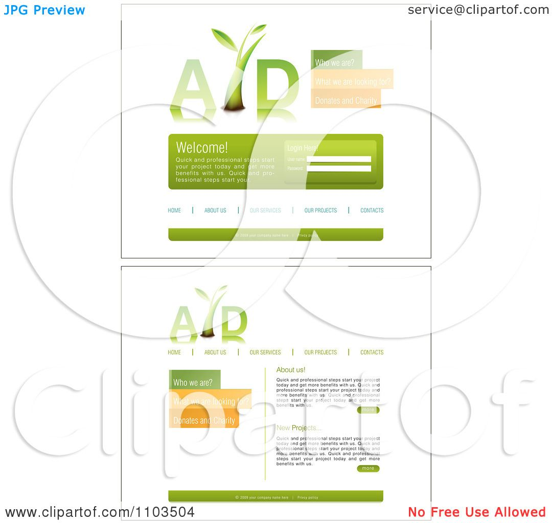 clipart website home page interface templates and navigation bars