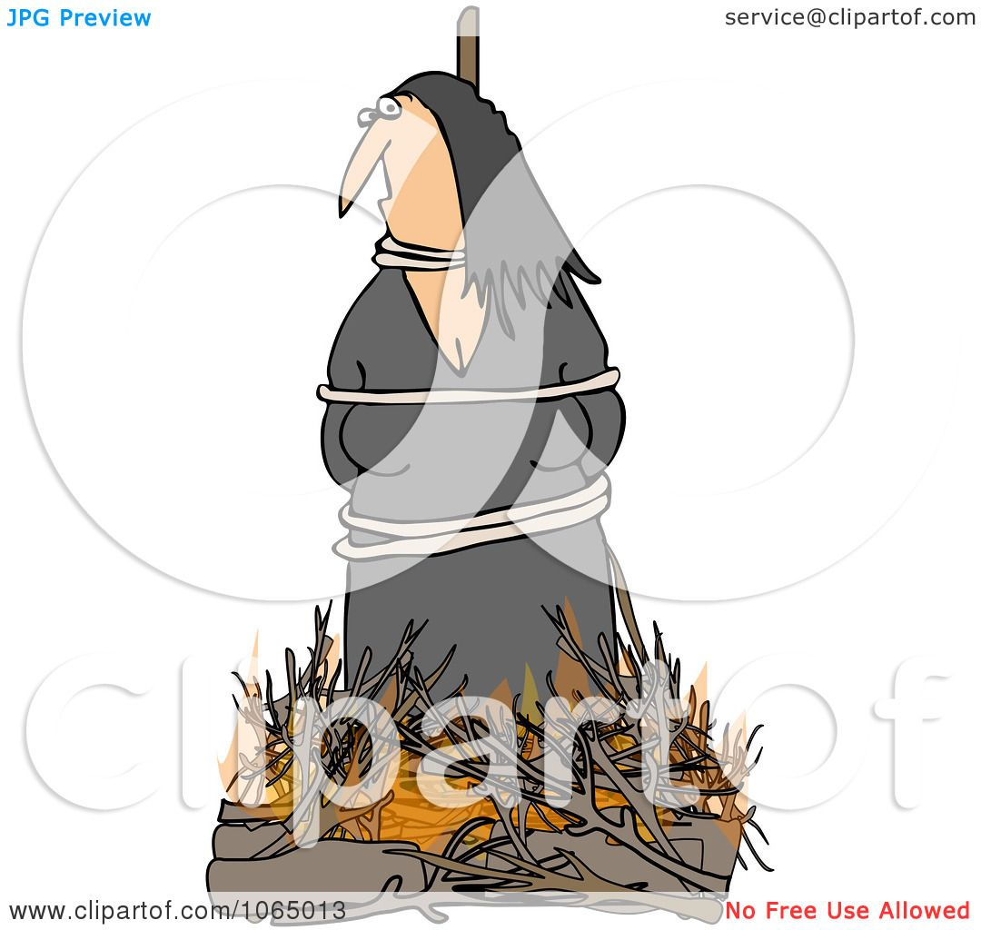 Clipart Witch Burning At The Stake