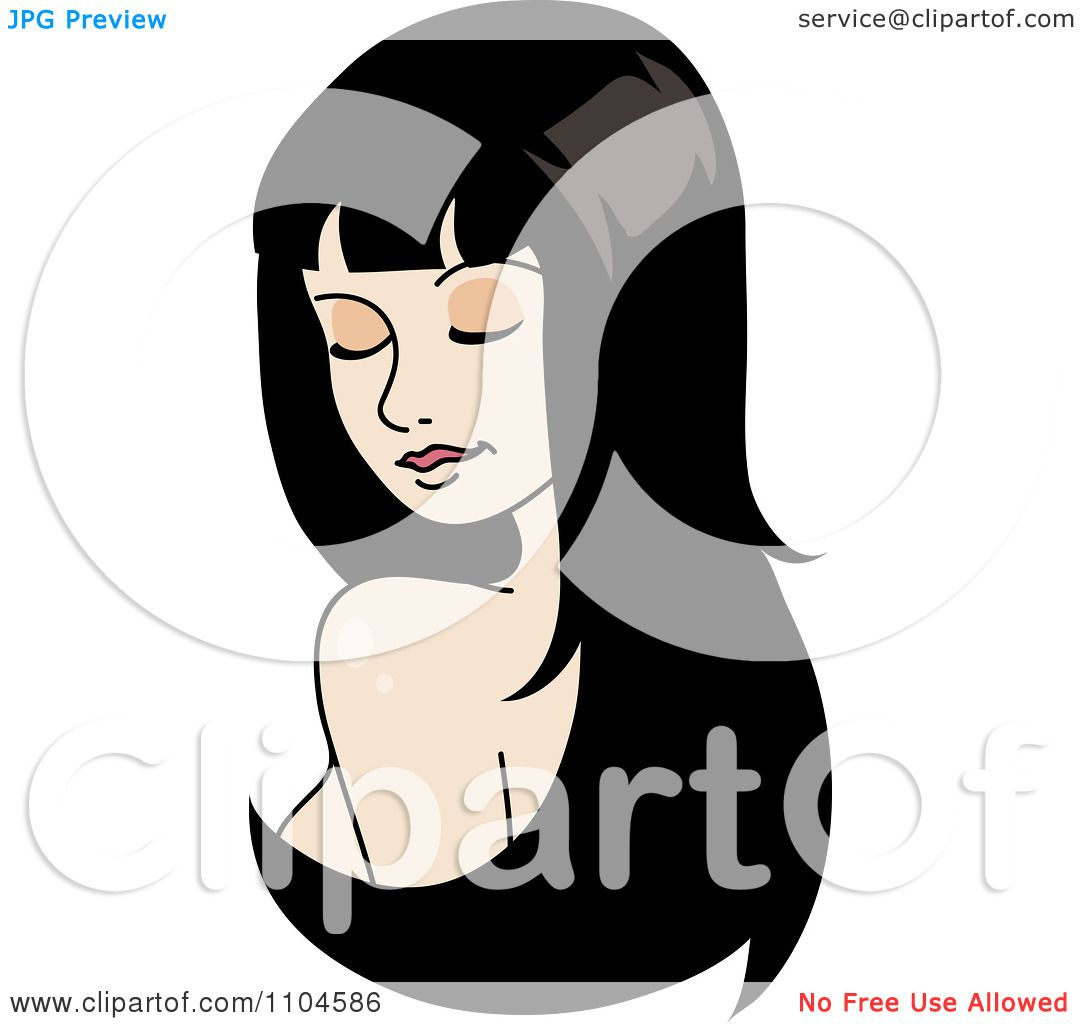 Clipart woman looking over her shoulder with long black hair clipart woman looking over her shoulder with long black hair extensions or a wig royalty free vector illustration by rosie piter pmusecretfo Image collections