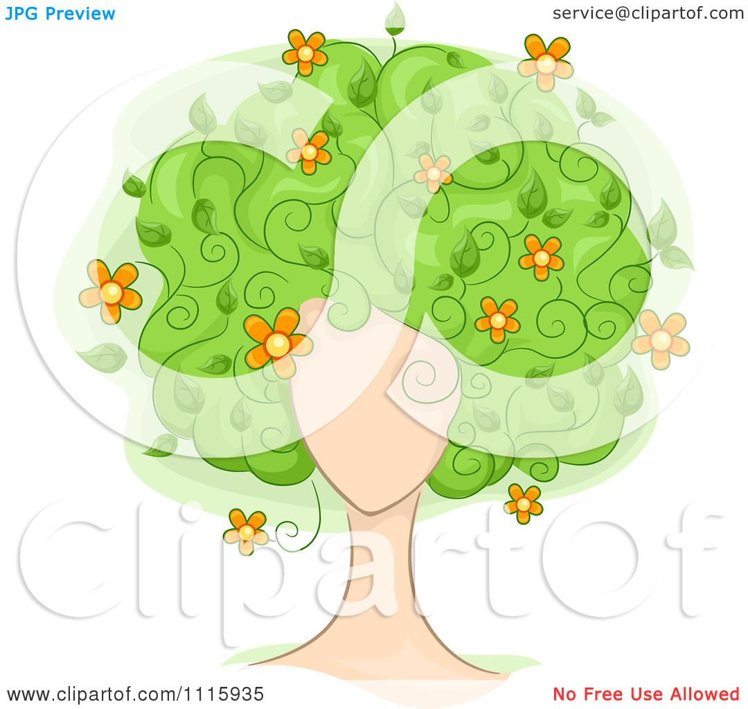 Free rf poodle clipart illustration 215241 by bnp design studio - Clipart Womans Face With Floral Tree Hair Royalty Free Vector Illustration By Bnp Design Studio