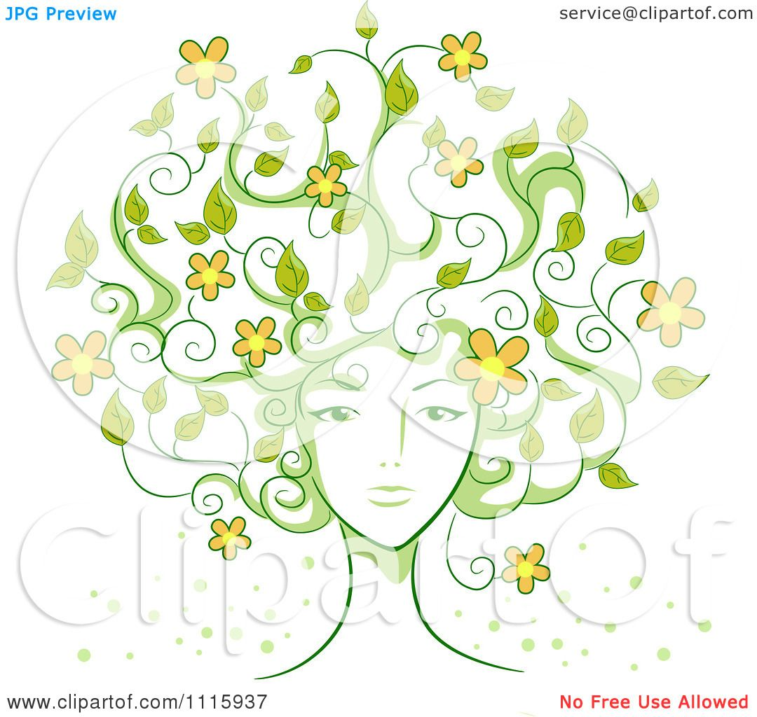 Free rf poodle clipart illustration 215241 by bnp design studio - Clipart Womans Face With Vine Hair And Flowers Royalty Free Vector Illustration By Bnp Design Studio