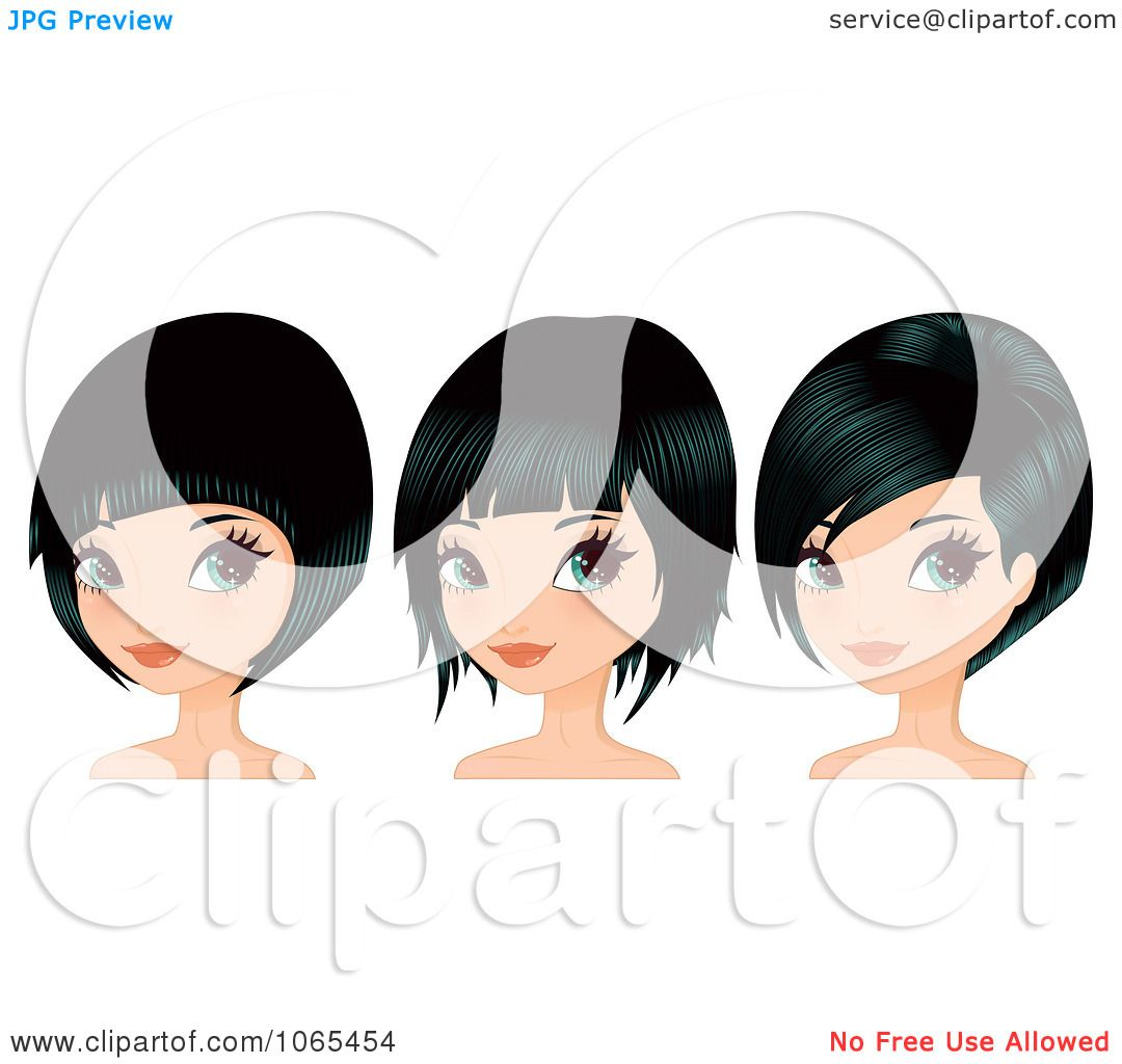 Women Hair Cut Clip Art. Women. Get Free Printable Hairstyle Pictures