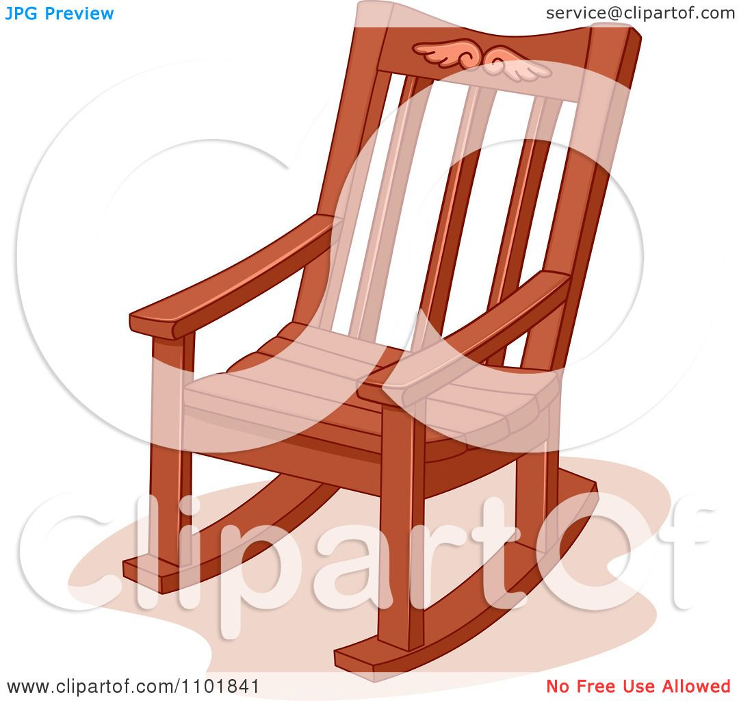 clipart wooden rocking chair royalty free vector illustration by bnp design studio 1101841. Black Bedroom Furniture Sets. Home Design Ideas