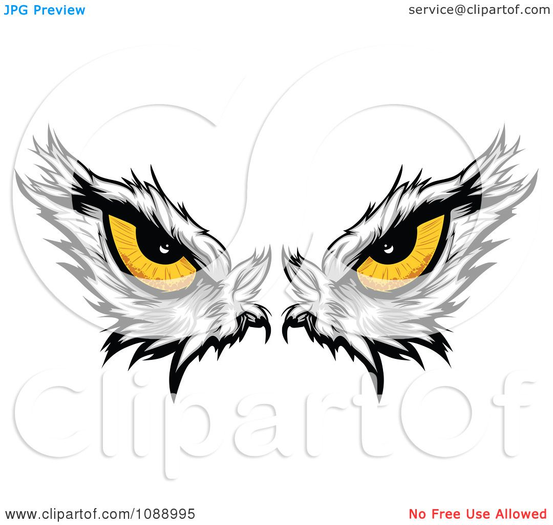 Clipart Yellow Bald Eagle Eyes Royalty Free Vector Illustration By
