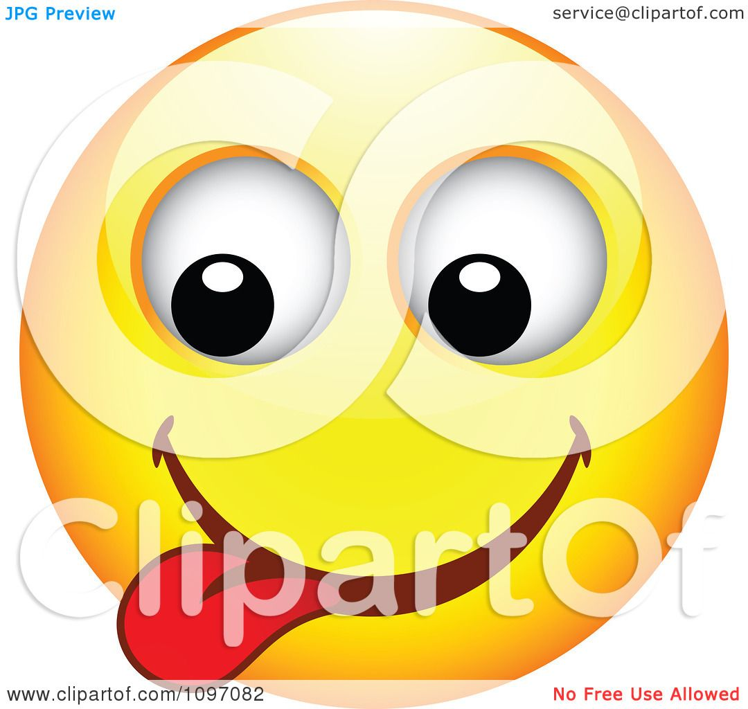Clipart Yellow Goofy Cartoon Smiley Emoticon Face 5 - Royalty Free ...