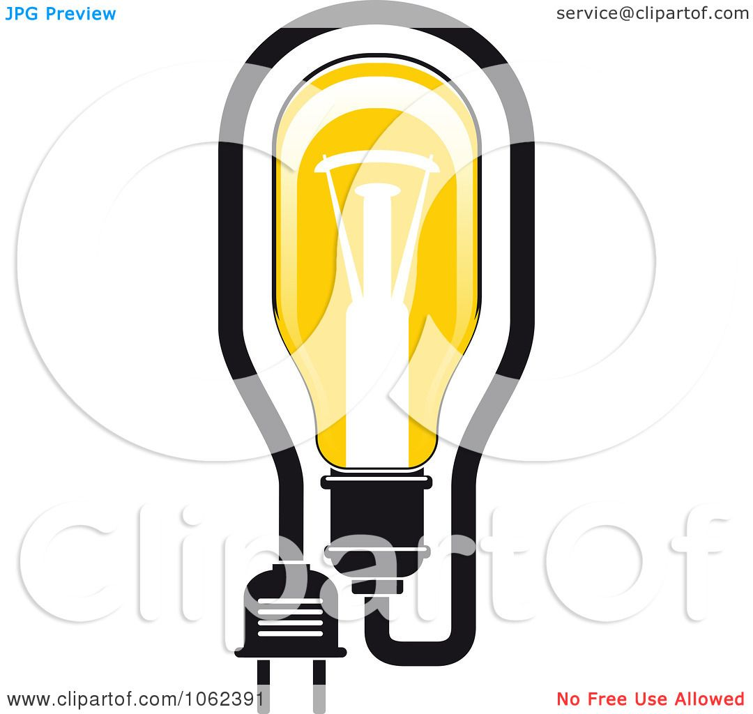 Clipart Yellow Light Bulb Logo 3 Royalty Free Vector