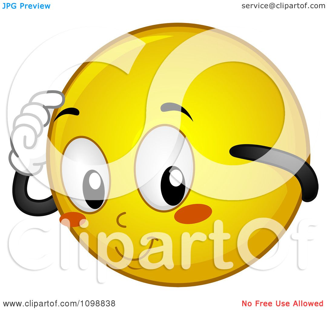 Clipart Yellow Shy Smiley