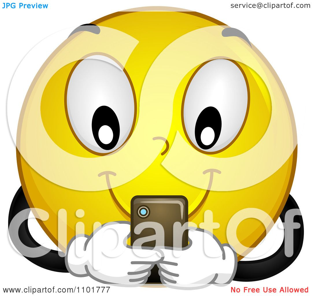 Clipart Yellow Smiley Texting