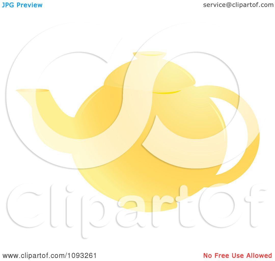 Clipart Yellow Tea Pot - Royalty Free Vector Illustration ...