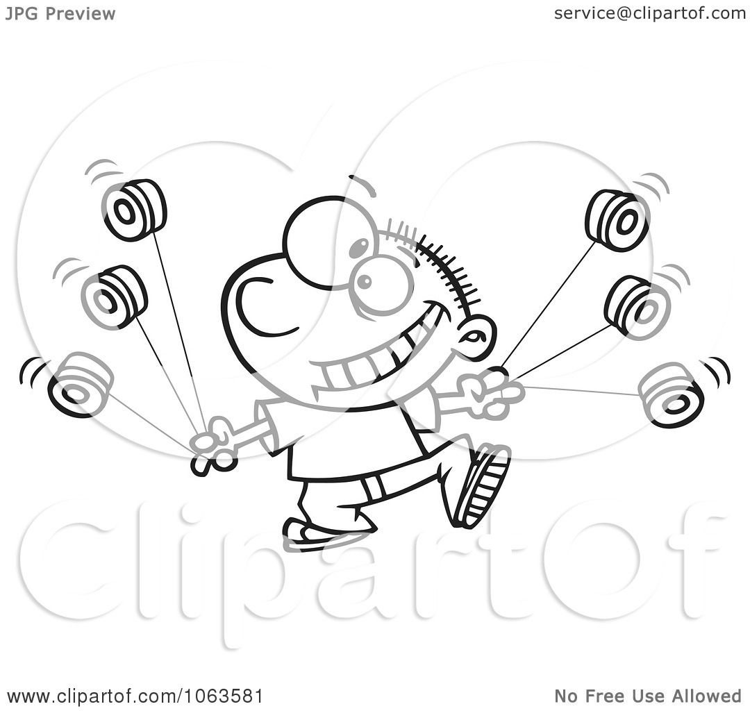 Free coloring pages yo yo - Clipart Yo Yo Boy Boy Black And White Outline Royalty Free Vector Illustration By Ron Leishman Download Image Free Coloring Pages