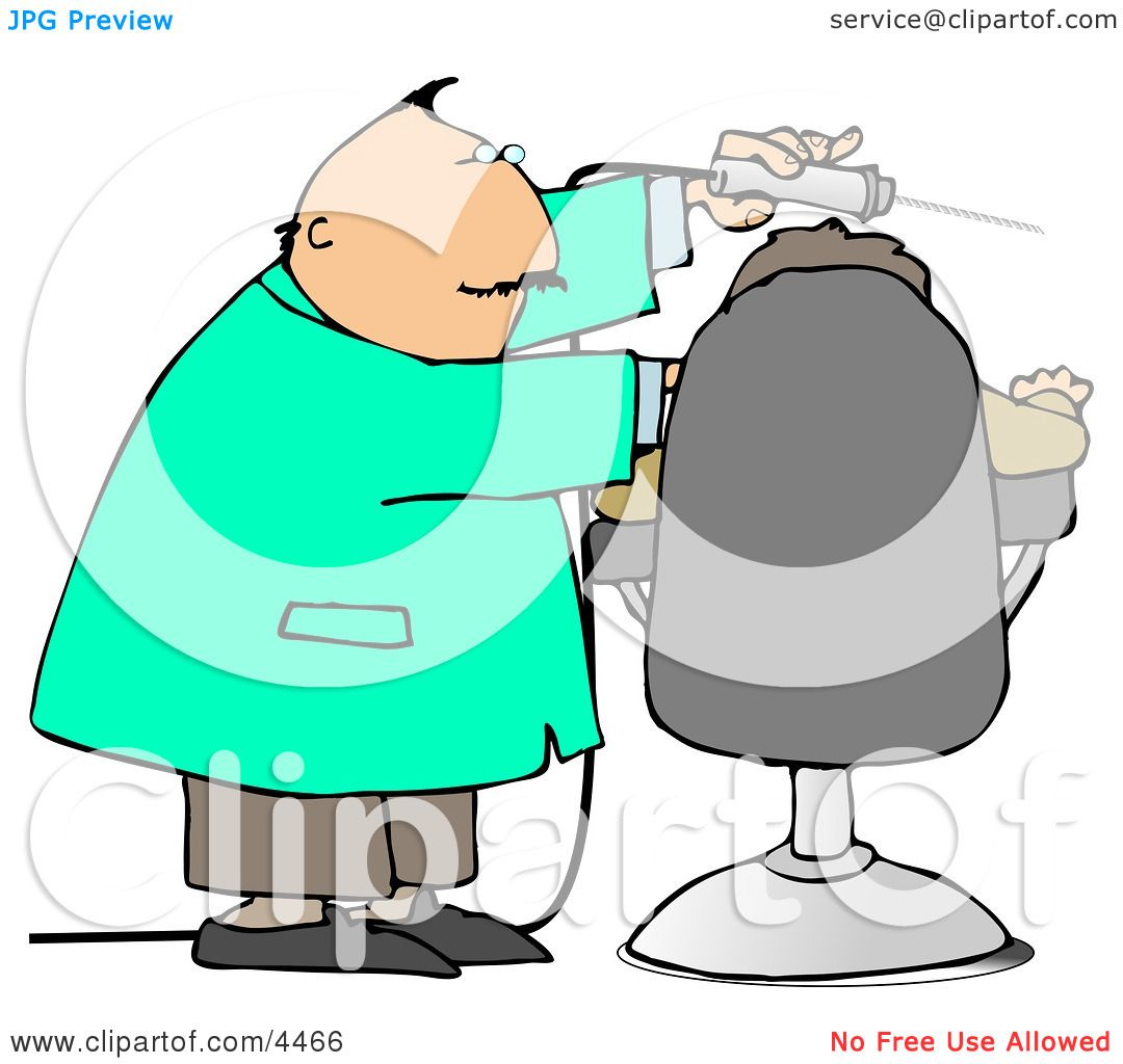 Dentist Using Big Drill On Patient's Teeth Clipart by ...