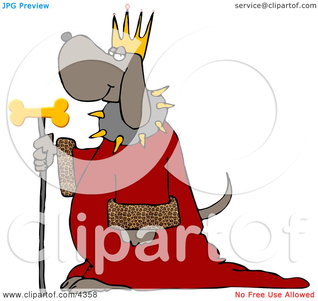 Dog Wearing King S Crown Royal Red Robe And Holding A Gold Milk Bone Staff Clipart By Djart 4358 Ships from and sold by rockler woodworking and hardware. gold milk bone staff clipart by djart 4358