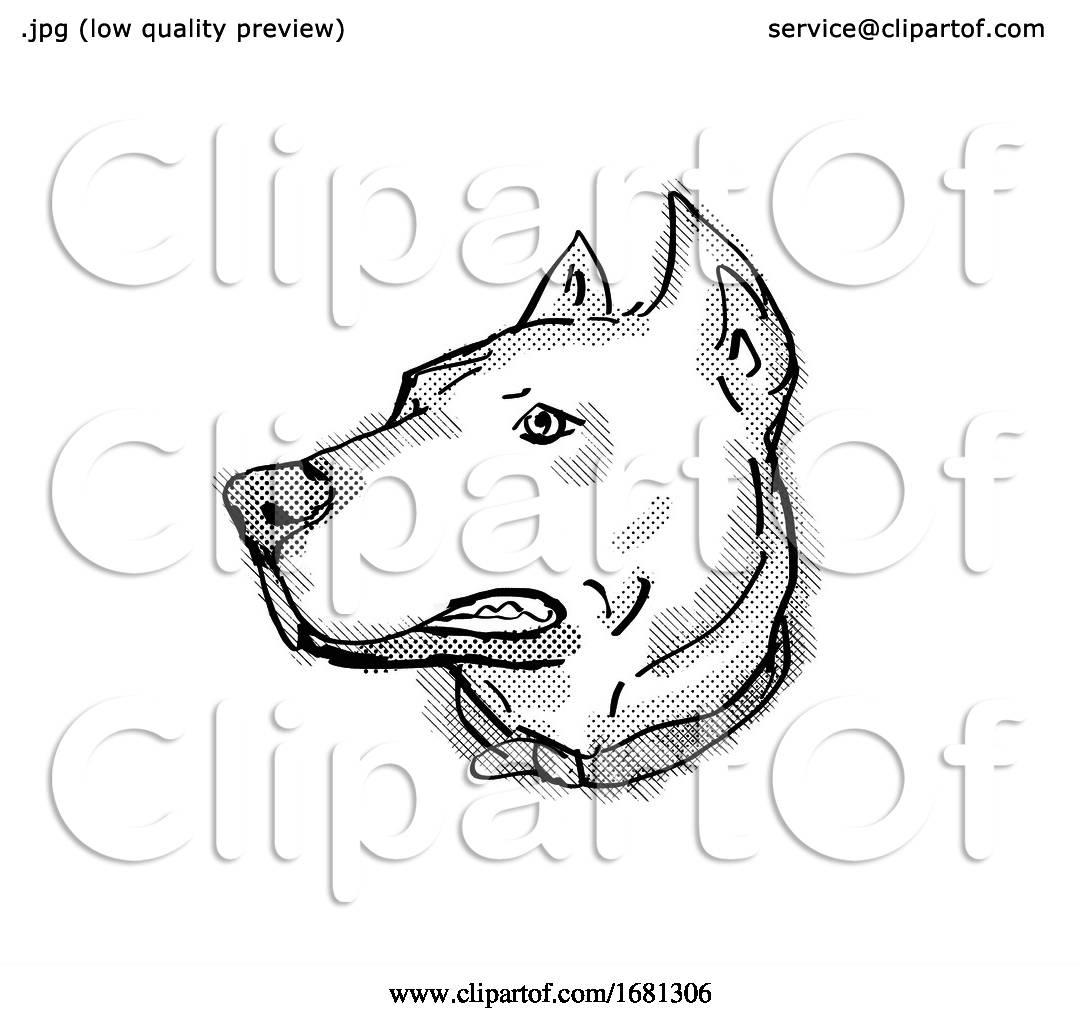 Dogo Argentino or Argentinian Mastiff Dog Breed Cartoon ...