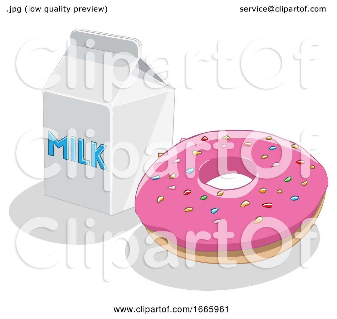 Donut and Milk by cidepix #1665961